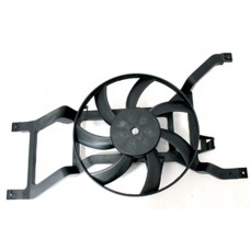 Electric motor, radiator fan
